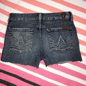 7 for all mankind A Pocket Jean Cut Offs